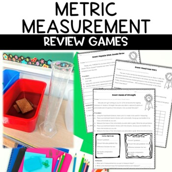 Metric Measurement Review Games Great for Station Activities