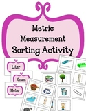 Metric Measurement Sorting Activity.  Math Center