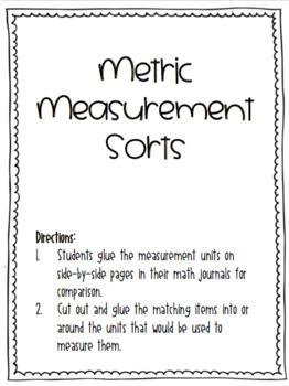 Metric Measurement Sorts