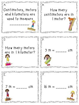 Metric Measurement Task Cards