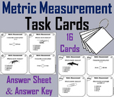 Metric Measurement Task Cards 4th 5th 6th Grade