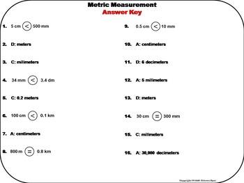 Metric Measurement Task Cards 4th 5th 6th Grade