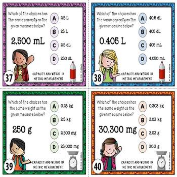 Metric Measurement Task Cards {CAPACITY & WEIGHT}