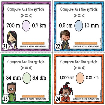 Metric Measurement Task Cards {LENGTH}