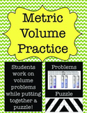 Metric Measurement: Volume Practice Puzzle