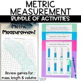 Metric Measurement Worksheets Flipbook and Review Games BUNDLE