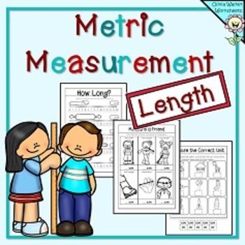 Metric Measurement Worksheets Length Kindergarten Grade One