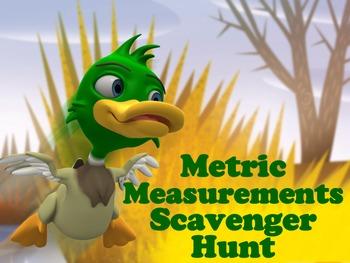 Metric Measurement and Comparisons Scavenger Hunt Activity