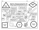 Metric Measurements Coloring Sheet #1