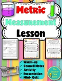 Density, Metric Measurements Lesson (Presentation, notes and activity)