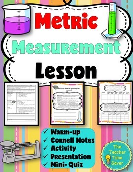 Metric Measurements Lesson (PowerPoint, notes, and activity)