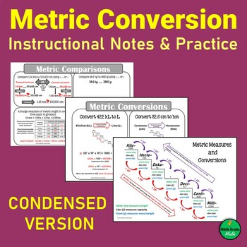 cf8e827a1bc9 Metric Conversion Chart Worksheets   Teaching Resources