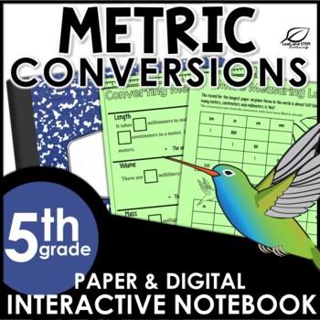 Metric Measurement Conversions Interactive Math Notebook Set