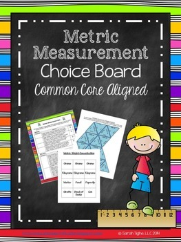 Metric Measurement Choice Board (Common Core Aligned)