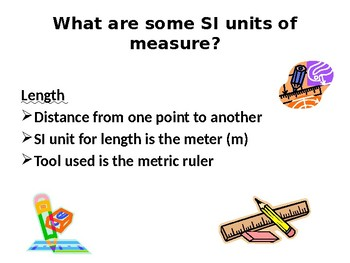 Metric Meaurement and Science Tools PPT