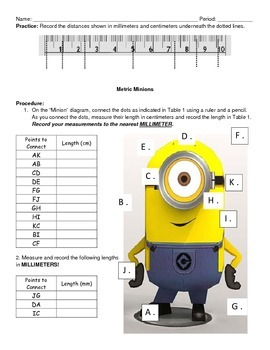 Metric Minions: Measuring in centimeters and millimeters