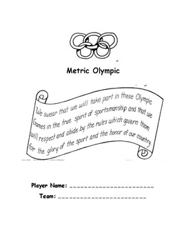 Metric Olympic Measurement Activity Booklet
