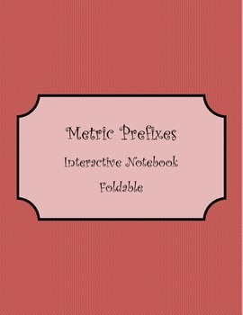 Metric Prefixes Foldable