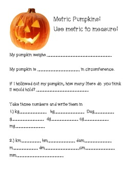 Metric Pumpkins!