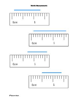 Metric Ruler Measurements