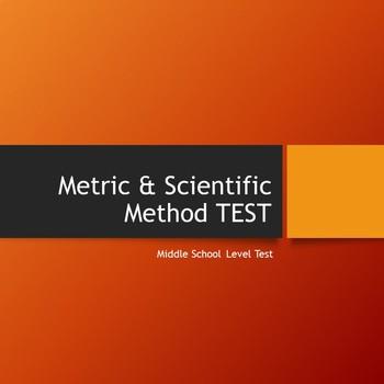 Metric & Scientific Method Unit Test