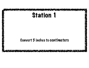 Metric/Standard Scavenger Hunt Activity (conversions)