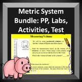Science Metric System Bundle: Mass, Volume and Length Labs