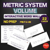 Metric System - Capacity - Volume - Interactive Word Wall Activity - NO PREP