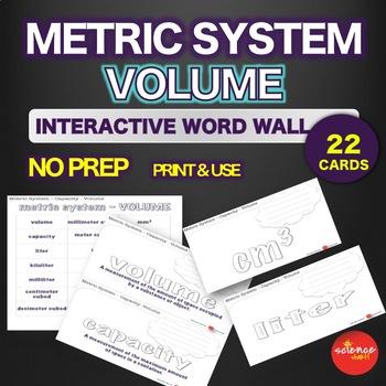Metric System - Capacity - Volume - Interactive Word Wall Activity - NO PREP