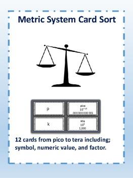 Metric System Card Sort