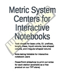 Metric System Centers for Interactive Notebooks