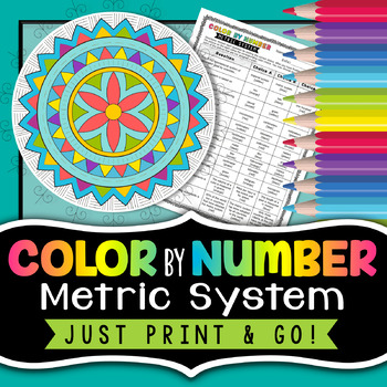 Metric System - Color by Number - Back to School Science FREE Activity