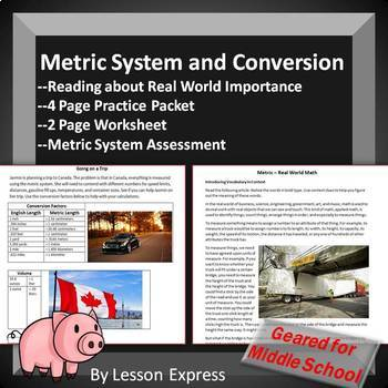 Metric System Conversion -- Reading, Practice Packet, Worksheets