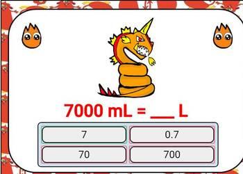 Metric System Conversions Digital Boom Cards: kilo-, centi-, milli,