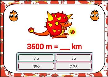 Metric System Conversions Digital Boom Cards using grams, kg, meters, and km