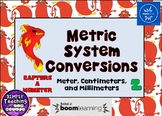 Metric System Conversions Digital Boom Cards using meters, centi-, and milli-