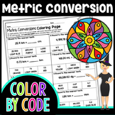 Metric System Conversion Color By Number | Science Color B