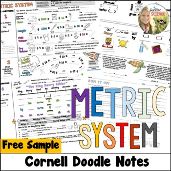 Metric System Cornell Doodle Notes Metrics Conversions FREE