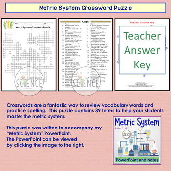 Metric System Crossword Puzzle