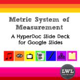 Metric System HyperDoc Slide Deck - NO PREP