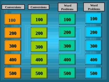 Metric System Jeopardy