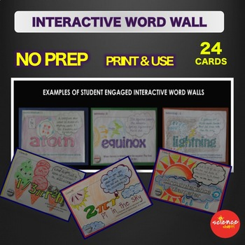 Metric System - Mass Measurement - Interactive Word Wall Activity - NO PREP