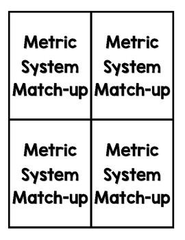 Metric System Match Up Game Bundle (Printables)