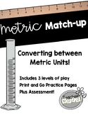 Metric System Match Up Game Bundle (Printables)
