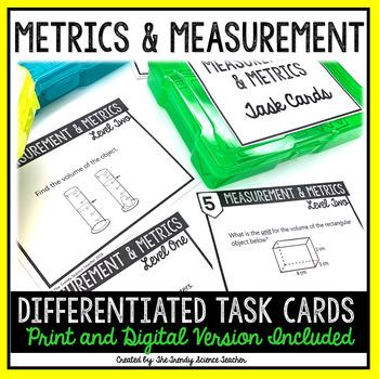 Metrics & Measurement Task Card Activity {Differentiated}