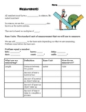 Metric System Notes and Practice with SI Units