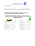Metric System Review Worksheet