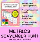Metric System Scavenger Hunt Game