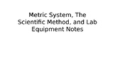 Metric System, Scientific Method, and Lab Equipment PowerPoint