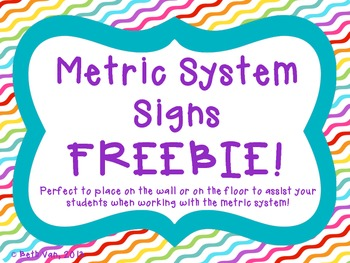 Metric System Signs